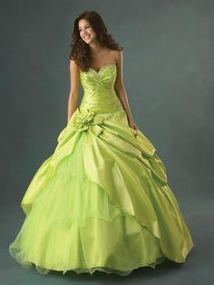 New Stock Lemon Green Formal Dress Prom Ball Gown-in Wedding Dresses from Apparel & Accessories on Aliexpress.com