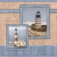 Wall Paper For Walls With Seashells Starfish And Seashells - Discontinued lighthouse border