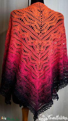 Tropical horgolt csipke kendő (Fonalfaloka) - Meska.hu Crochet Top, Tops, Women, Fashion, Moda, Women's, La Mode, Shell Tops, Fasion