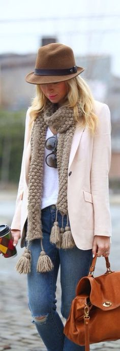 Brooklyn Blonde: Outfit of the Day Fall Fashion Outfits, Mode Outfits, Fall Winter Outfits, Look Fashion, Autumn Winter Fashion, Casual Outfits, Womens Fashion, Fashion Trends, Blazer Outfits