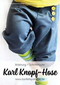 Most recent Totally Free easy sewing trousers Concepts Pumphosen mal anders: Schnittmuster Karl Knopf von Konfetti Patterns – Individuelle und besonde Toddler Girl Style, Toddler Girl Outfits, Baby Boy Outfits, Kids Outfits, Easy Sewing Patterns, Clothes Patterns, Rebecca Minkoff, Sewing For Beginners, Girl Fashion