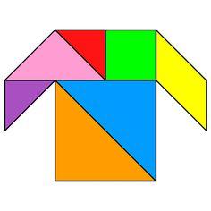 Tangram Shirt - Tangram solution #7 - Providing teachers and pupils with tangram puzzle activities