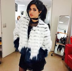Camila Cabello is super stylish in London!Camila Cabello and the other members of Fifth Harmony are in London right now. Camila shared this photo above of her in a super cute dress and fur coat. The coat is is designed by Jill Stuart and Camila gave the credit to stylist Zoe Costello. Camila is always looking trendy and cute! Twitter: @camilacabello97 Instagram: @camila_cabello Photo: Camila Cabello / Instagram
