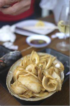 Stir-fried abalone