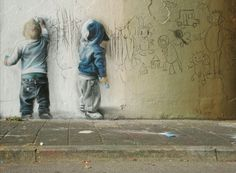 toddler street art