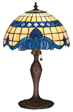 "Victorian 18.5"" H Table lamp with Bowl Shade"
