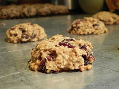 {Healthy} Soft-Baked Chocolate Cherry Oatmeal Cookies