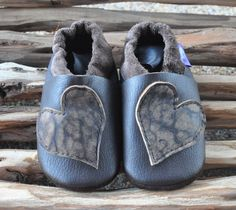 Soft soled leather baby shoes recycled eco by AnomalyLeathers