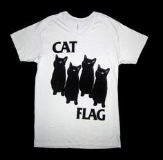 awesome shirt, worn by scroobius pip yesterday in berlin Biker T Shirts, Cat Shirts, Funky Shirts, Pretty Outfits, Cool Outfits, V Neck T Shirt, Shirt Designs, Flag, T Shirts For Women