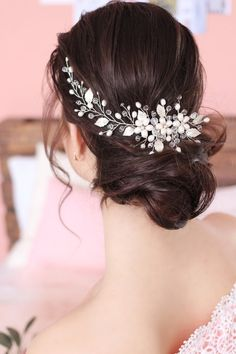 80f8a4e93 Wedding hair сomb with natural pearls , Bridal hair comb , Wedding hair  accessory , wedding day