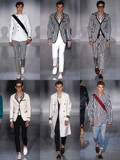 Statement Stripes On The Gucci SS15 Menswear Runway
