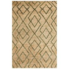 Bunny Williams for Dash & Albert Marco Moss Jute Soumak Woven Rug…