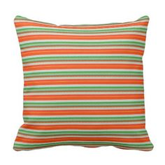#gold - #Holiday Stripes Red Green White Pillow 16x16