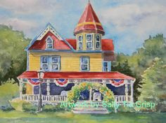 Architectural Rendering Cape May New by SallyTCrispCreations, $220.00