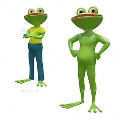 3D Printed T-Shirts Frog Cartoon Tropical Animal Nature Funny and Mascot Charact