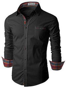 Doublju Mens Slim Fit Long Sleeve Flannel Dress Shirt BLACK,XL Doublju http://www.amazon.com/dp/B00I92F3N0/ref=cm_sw_r_pi_dp_HfDJwb0RQ7CZX