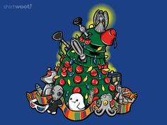 CELEBRATE! CELEBRATE! for $15  So excited! Just checked my Top 20 status over at Shirt.Woot and after the reckoning they've moved our CELEBRATE CELEBRATE by OfficeInk and TrulyEpic http://shirt.woot.com/offers/celebrate-celebrate (Doctor Who Christmas Tree Dalek) design into 5th place! You can pick up one for yourself or your favorite Whovian for just $15!