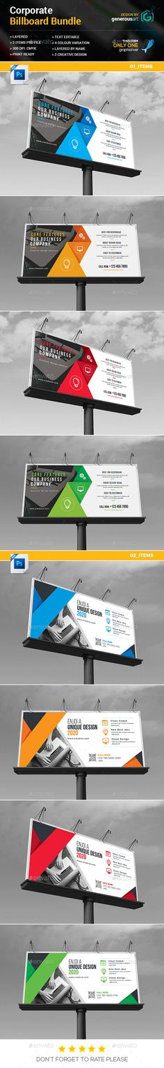"Billboard Template Bundle_2 in 1 by generousart Included Bundle:01 Items 02 ItemsFile Information: Easy Customizable and EditableSize 70""x30"".25"" in with bleedCMYK ColorDesign in"