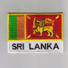 FLAG PATCH PATCHES Sri-Lanka IRON ON COUNTRY EMBROIDERED WORLD FLAG