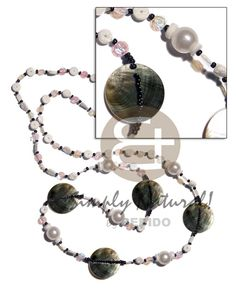 Giveaways 40 In. Floating White Rainbow Sequins Glass Teens Necklace Wholesale Jewelry