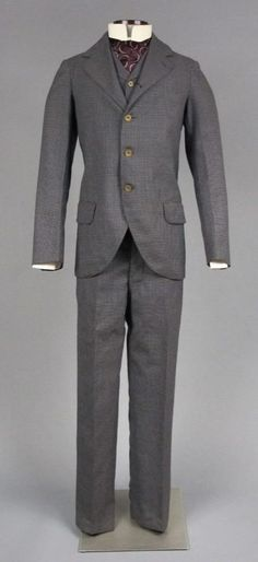 Man's suit, about 1895.