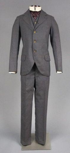 Man's suit, about 1895.
