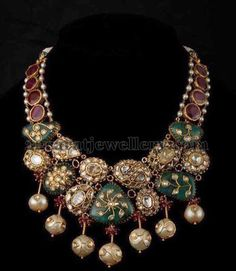 Rubies and Polki Stones Exclusive Choker | Jewellery Designs