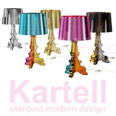 Kartell Bourgie Lamp Multi Color Metallic | Stardust Modern Design