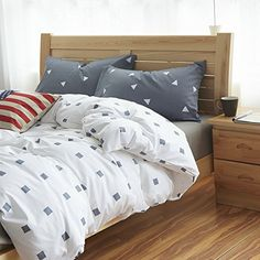 Single Men And Women White Bedding Teen Bedding Kids Bedding Dorm Bedding Gift Idea, Full Size //Price: $65.28 & FREE Shipping //     #bedding