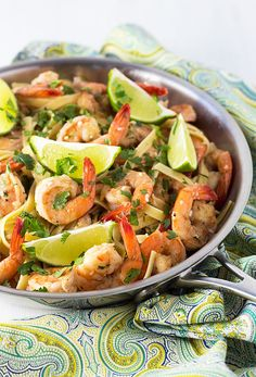 Perfectly seasoned shrimp in pasta with a buttery lime sauce topped with fresh cilantro. Perfectly seasoned shrimp in a velvety butter sauce with pasta in less than 30 minutes! How To Cook Shrimp, How To Cook Pasta, Cilantro Lime Shrimp, Shrimp Pasta, Cajun Shrimp, Seasoned Shrimp, Cooked Shrimp, 30 Minute Meals, Shrimp Recipes