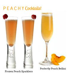 Peachy Cocktails #cocktail #recipes