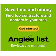 Angie's List Membership : Only $5.59 for 1 year or $11.75 for 3 years!  http://www.mybargainbuddy.com/angies-list-40-off-extra-20-off