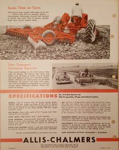 Allis-Chalmers 12 1/2' Double-Action Disc Harrow Ad