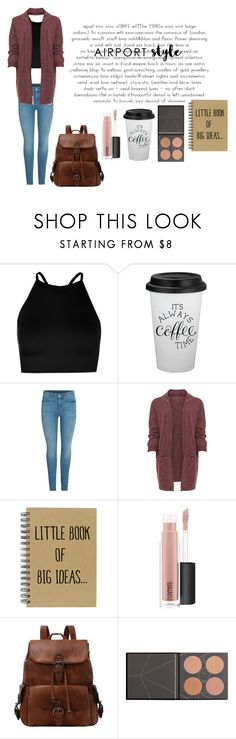 """""""Airport style"""" by happyfashiongirl ❤ liked on Polyvore featuring Boohoo, WearAll, MAC Cosmetics, ZOEVA and plus size clothing"""