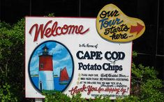 Sign at Cape Cod Potato Chip Factory, Hyannis, Mass.;  This is a free self-guided tours, samples are included-Courtesy of TripAdvisor Traveler/mmb617