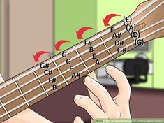 How to Teach Yourself to Play Bass Guitar. If you love the rich sound of a bass guitar and dream of being the beat that keeps a band going, wait no longer, and teach yourself how to play the instrument! The bass guitar, like any new. Bass Guitar Scales, Bass Guitar Notes, Bass Guitar Chords, Learn Bass Guitar, Fender Bass Guitar, Guitar Chord Chart, Guitar Tips, Music Guitar, Playing Guitar
