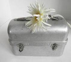Aluminum Lunch Box, Industrial Lunch Pail, Vintage Lunch Bucket, Lunch Box Storage and Organization on Etsy, Sold