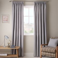 Buy Putty John Lewis Cotton Rib Lined Pencil Pleat Curtains, x Drop from our Ready Made Curtains & Voiles range at John Lewis. Lounge Curtains, Pleated Curtains, Grey Curtains, John Lewis Curtains, Pencil Pleat, Spare Room, Soft Furnishings, Home Living Room, Bedroom Decor