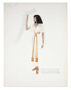 Irene Sharaff - Costumes de Films - Esquisses et Croquis - Cléopâtre - 1963