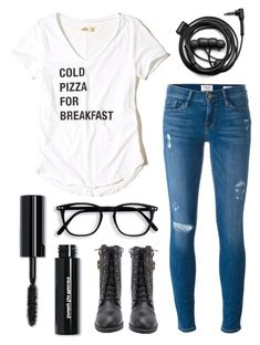 """""""Untitled #114"""" by iamnumber-four on Polyvore featuring Hollister Co., Bobbi Brown Cosmetics, Frame and Forever 21"""