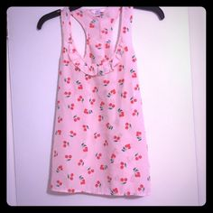 Cherry tank top Candies cherry tank with Ruffles on front and back! So cute! Candie's Tops Tank Tops