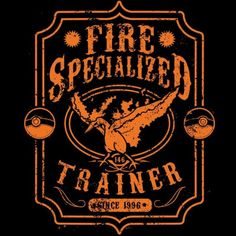 Fire Specialized T-Shirt $12.99 Pokemon tee at Pop Up Tee!