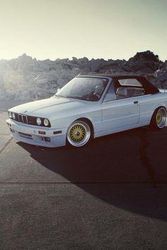 BMW, White, Road, Car