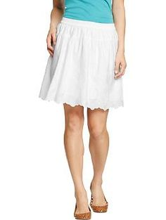 Old Navy white eyelet skirt- cute and affordable.  A little on the short side, for conservative DAR ladies, but would work for pages who are a little on the short side themselves.