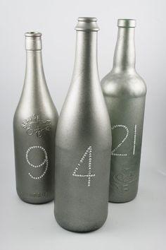 Wedding and Party Decoration Wine Bottle Table by HANDMADEbyELAY, $8.50