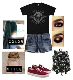 """""""Outfit of the Day/ School"""" by fluffypunkk ❤ liked on Polyvore featuring Lucky Brand and Vans"""