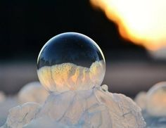 How To Make Frozen Soap Bubbles:  Remarkably, soap bubbles can be blown in very cold temperatures, freeze and remain intact if they are strong enough.
