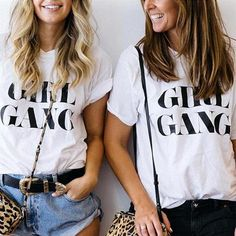 Girl Gang T Shirt in Multiple Color Options -Empowering Women Girl Boss Collection Tumblr Blogger inspired giving back to charity