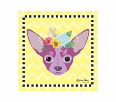 Chihuahua Pet Portrait Art Print Illustration by AllisStudio