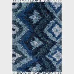 Known for her colorful bohemian style, designer Justina Blakeney's hand-woven Fable Collection from India is an imaginative spin on the regular flat weave rug. These pieces are crafted of wool and viscose with the ends of the weft coming to the front of t Rya Rug, Rug Texture, Diamond Pattern, Woven Rug, Blue Area Rugs, Hand Weaving, Justina Blakeney, Bohemian Style, Boho
